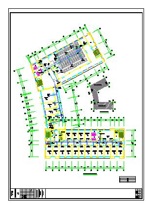 [江苏]高层防疫大楼空调通风及防排烟系统cad施工图(节能设计)-图二