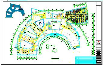 [江苏]多层疗养医院空调通风及防排烟系统cad施工图(机房设计)-图一