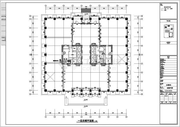 [新疆]13万平综合区全套采暖通风防排烟系统设计施工图(热风幕采暖 建筑形式多)-图一
