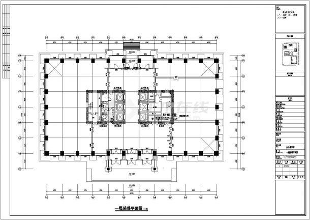 [新疆]13万平综合区全套采暖通风防排烟系统设计施工图(热风幕采暖 建筑形式多)-图二