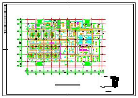 [山西]高层医疗建筑空调通风及防排烟系统cad施工图(采暖设计动力设计)-图一