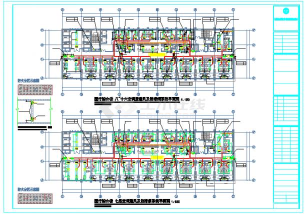 [浙江]高层医疗综合楼空调通风防排烟系统cad图纸(大院出品净化空调)-图一
