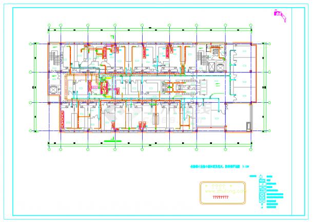 动物疾控中心空调通风及防排烟系统cad施工图-图二
