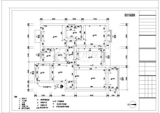 某豪华别墅精装修室内设计cad施工图纸-图二