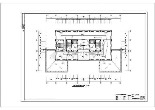 某大学图书馆电气设计图纸-图一