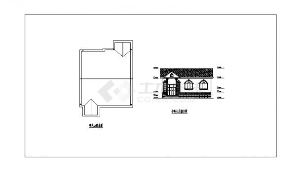 2套农家小型住宅小区建筑设计施工cad图纸-图一