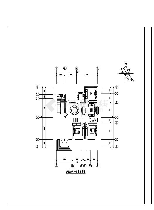 2套农家小型住宅小区建筑设计施工cad图纸-图二