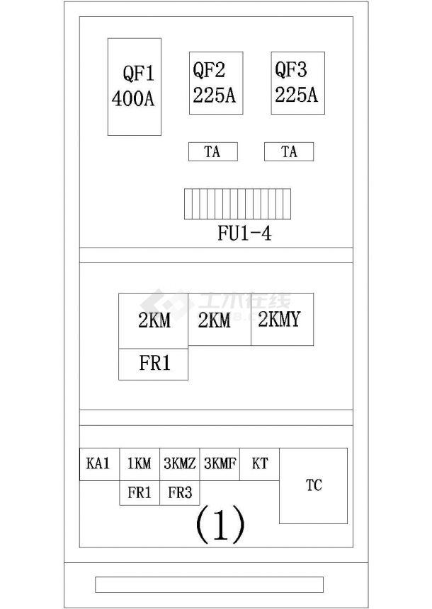 西门子PLC控制混砂机cad原理设计施工图(含碾砂机电气原理图)-图二