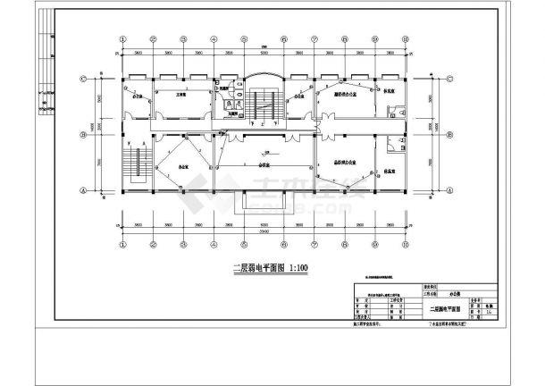 某地上五层办公楼电气设计cad施工图纸-图二