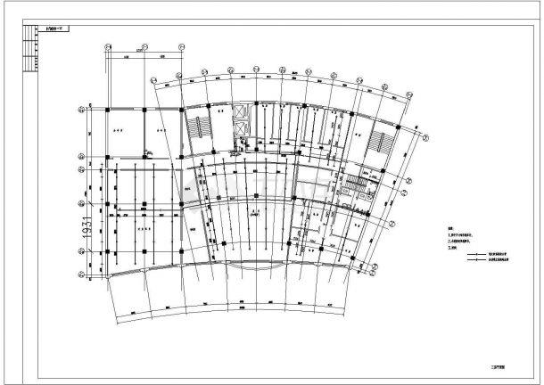 某高层办公楼给排水设计cad施工图纸-图一