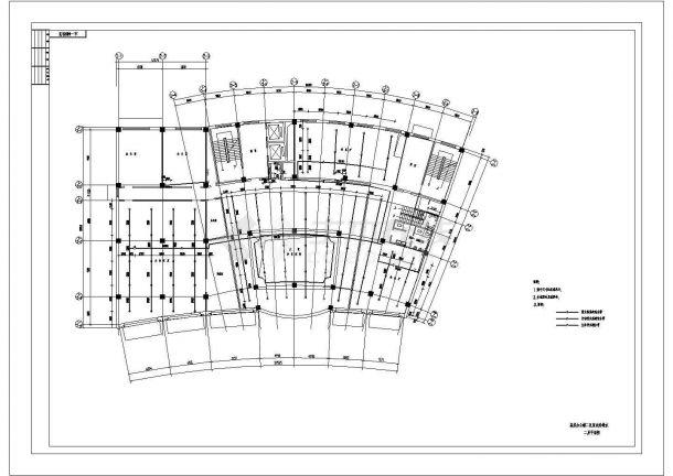 某高层办公楼给排水设计cad施工图纸-图二