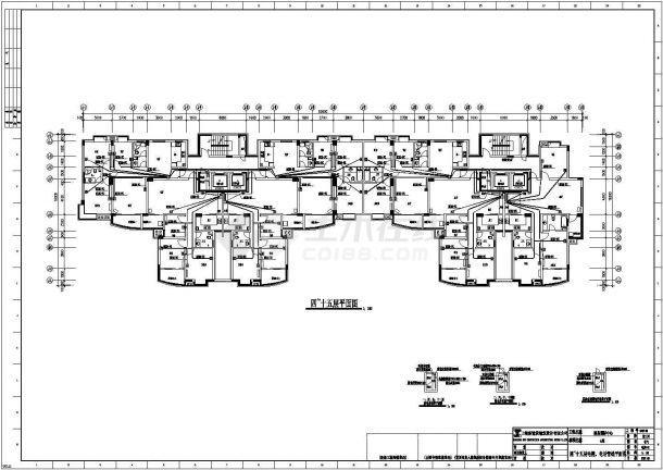 【杭州】某高档小区住宅楼全套电气cad施工设计图纸-图一