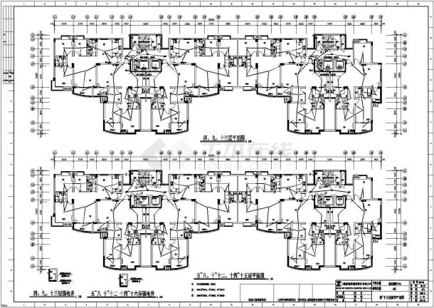 【杭州】某高档小区住宅楼全套电气cad施工设计图纸-图二