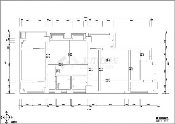 某商业宾馆室内精装修设计cad全套施工图-图二