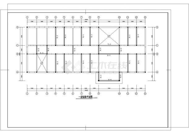 某三层砖混综合教学楼建筑cad施工图-图一