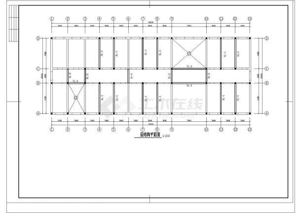 某三层砖混综合教学楼建筑cad施工图-图二