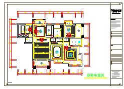 美式.世x城 三室两厅住宅装修施工图(含效果图)-图一