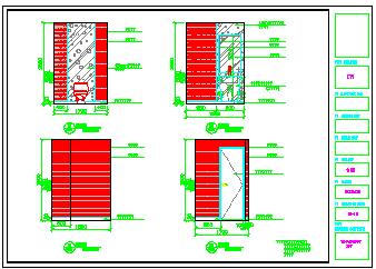 某大酒店名世会室内装饰工程cad设计图纸-图一