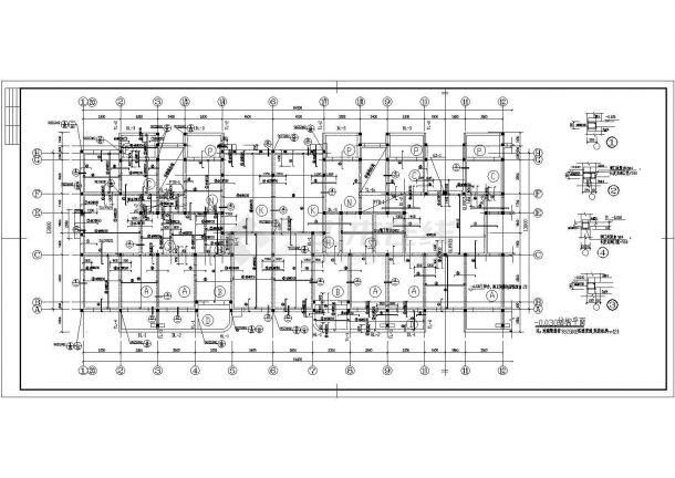 某多层框架结构粮库住宅楼设计cad全套结构施工图(含设计说明,含建筑设计,含水电设计)-图二
