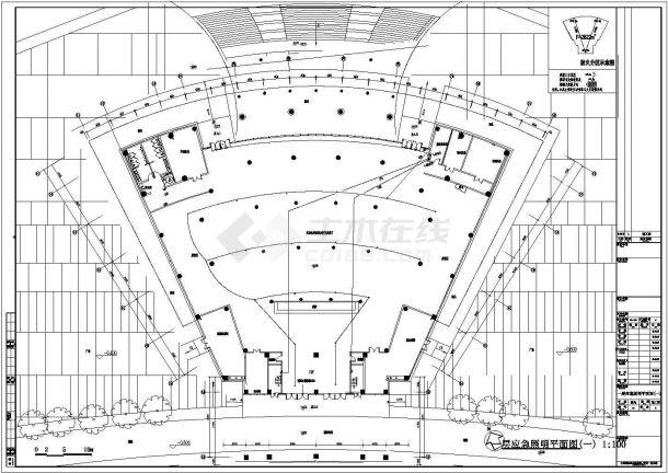某多层框架结构党员干部学习教育中心配电设计cad全套电气施工图(含设计说明,含弱电设计)-图一