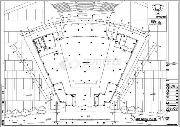 某多层框架结构党员干部学习教育中心配电设计cad全套电气施工图(含设计说明,含弱电设计)-图二