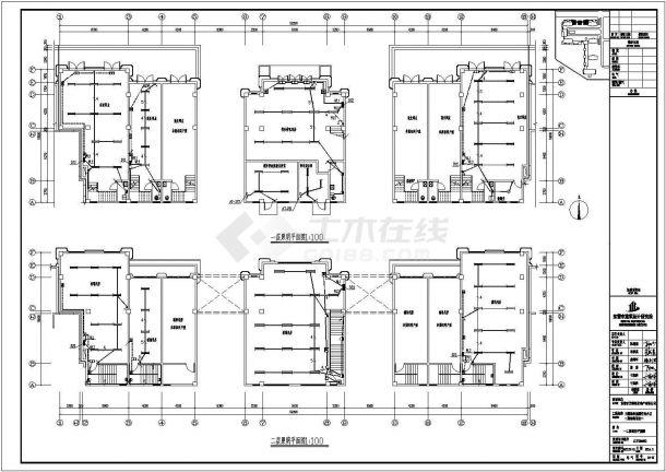 某高档住宅小区二层框架结构配套商业楼配电设计cad全套电气施工图(含设计说明,含弱电设计,含多套设计)-图二