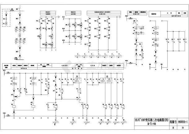 设备控制器_35-6~10KV变压器二次电路图-图一