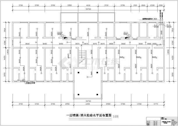 某地区民生建筑综合楼火灾报警系统布线设计CAD资料-图一