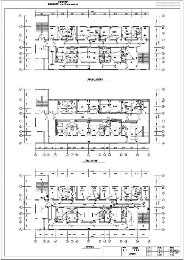 某地区砖混民生建筑综合楼火灾报警系统布线设计CAD资料-图二