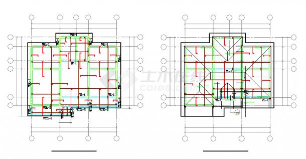 2层农村自建房砖混结构cad设计施工图纸-图二