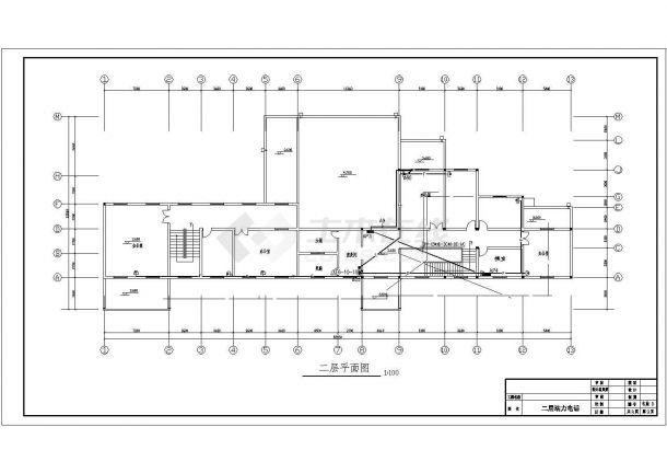 某地区市中心宿舍建筑各层配电系统设计CAD资料-图一