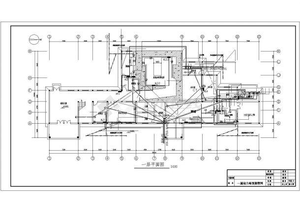 某地区市中心宿舍建筑各层配电系统设计CAD资料-图二