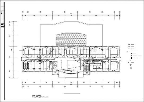 某地区市中心建筑各层竖向及低配电系统设计CAD资料-图二