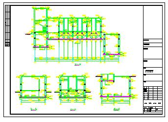 某生活污水处理中水回用cad设计图纸(导流曝气生物滤池)-图一