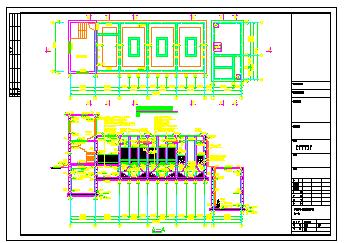某生活污水处理中水回用cad设计图纸(导流曝气生物滤池)-图二