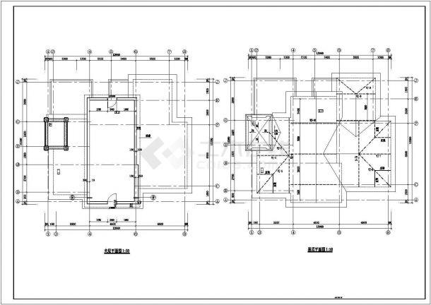 某框架结构二层新农村住宅楼设计cad全套建筑施工图(含设计说明)-图二