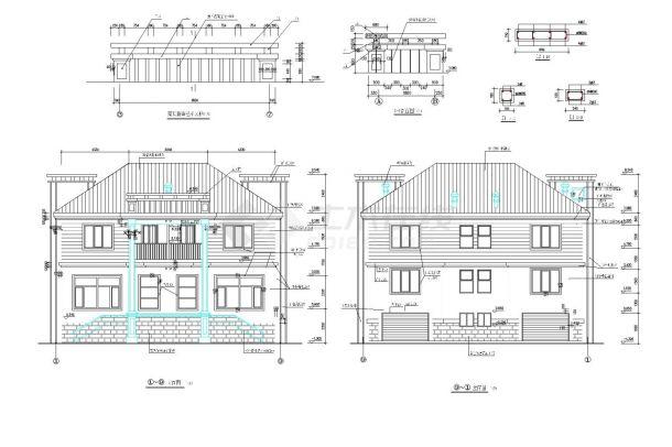 某高档小区三层框架结构住宅楼设计cad全套建筑施工图(含设计说明)-图二