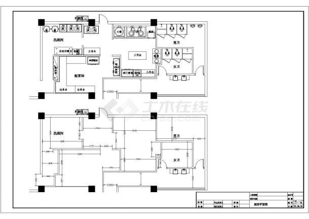 四川鸭肠王火锅店室内装饰工程设计cad详细施工图-图一