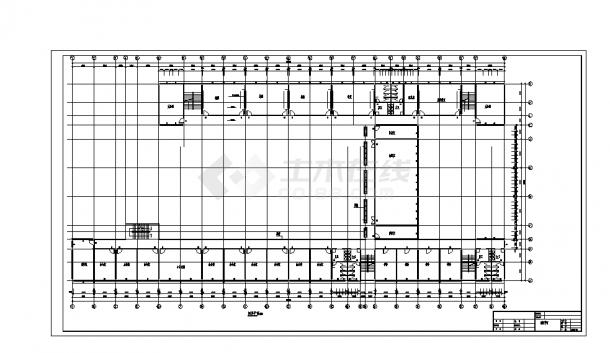 2套四层框架综合教学楼设计施工cad图纸-图一