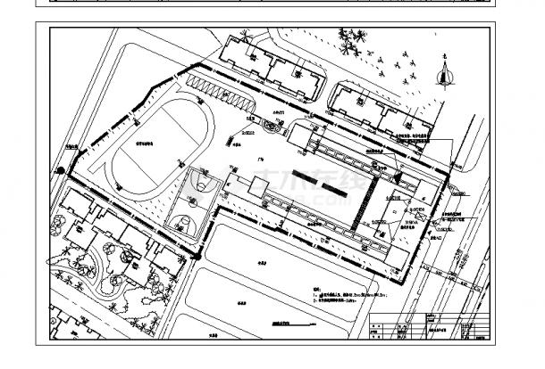 2套四层框架综合教学楼设计施工cad图纸-图二