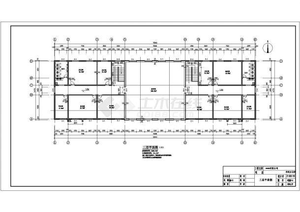 某公司三层办公楼电气设计cad施工图纸-图二