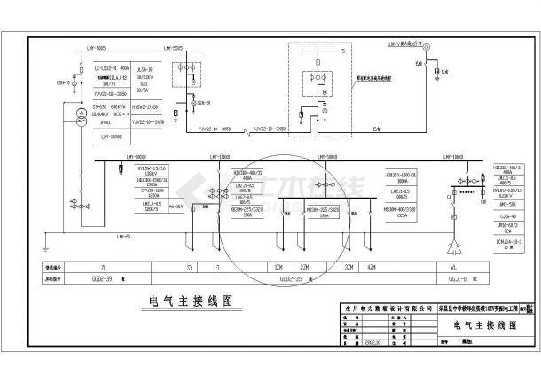某中学教师集资楼10KV配电工程设计cad全套电气施工图-图一