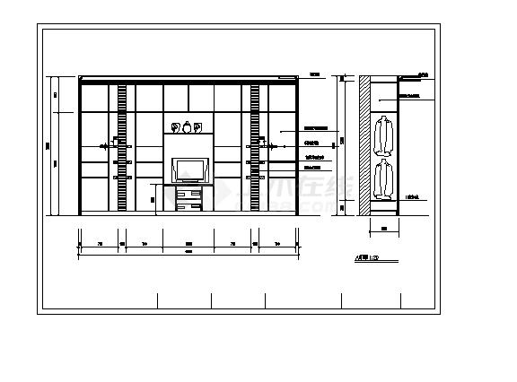 北京2套豪华别墅精装修设计施工cad图纸-图一
