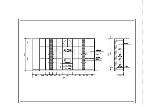 北京2套豪华别墅精装修设计施工cad图纸-图二