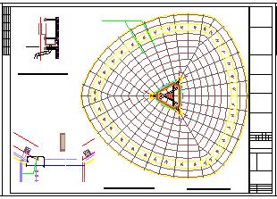 49米高体育中心景观塔结构cad设计施工图(含建筑图18吨消防水箱)-图二