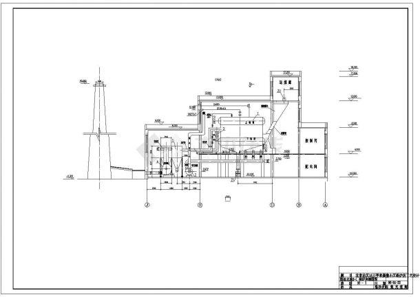 某15万平米住宅小区采暖锅炉房工艺设计cad全套施工图(含设计施工说明)-图一