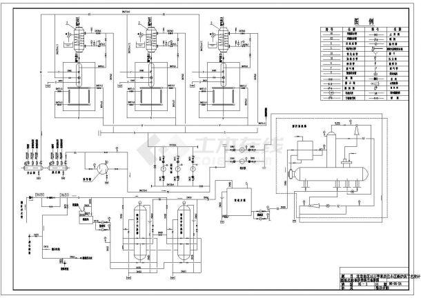 某15万平米住宅小区采暖锅炉房工艺设计cad全套施工图(含设计施工说明)-图二
