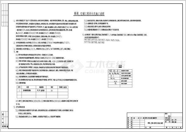 某多层大输液车间中央空调设计cad全套施工图( 含设计说明)-图一
