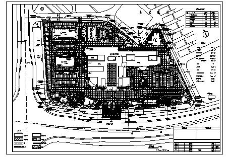4万平米某医院景观绿化设计cad图(含总平面图)-图一