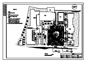 医院设计_某医院绿化景观施工cad图纸-图一